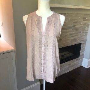 Anthropologie Blush Tank Top Blouse